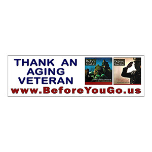 """Before You Go"" bumper sticker."